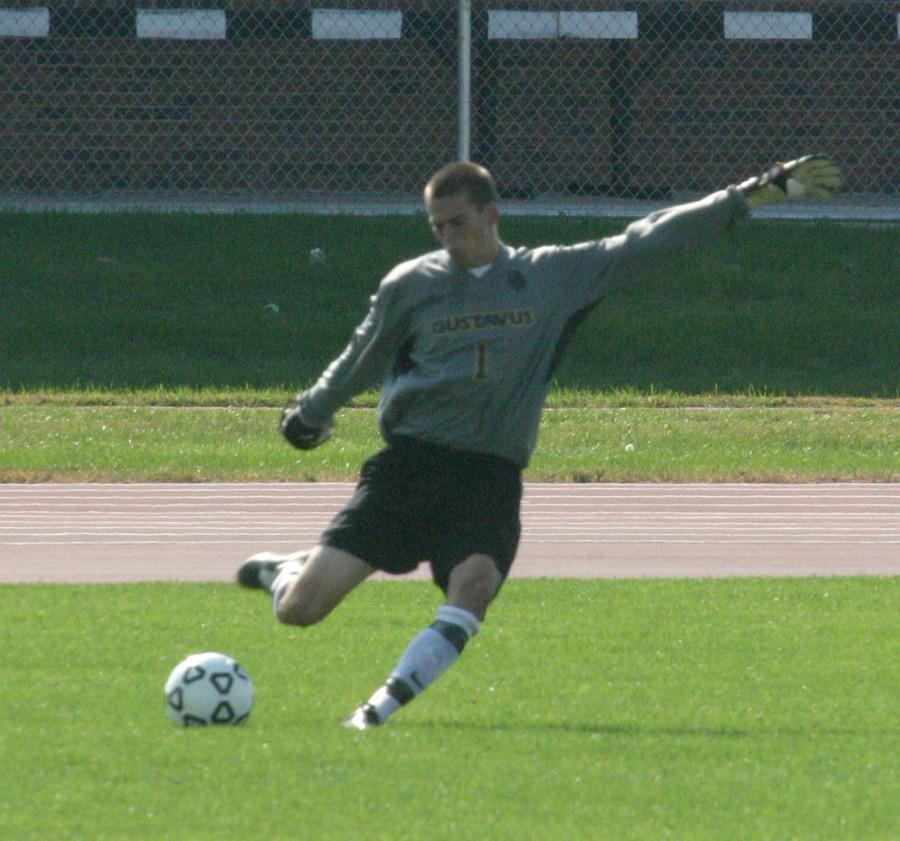 Luke Strom registered his 11th win of the season in goal.