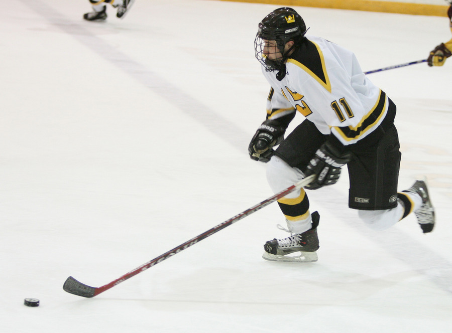Junior Assistant Captain David Martinson led the team in scoring last season with 41 points.