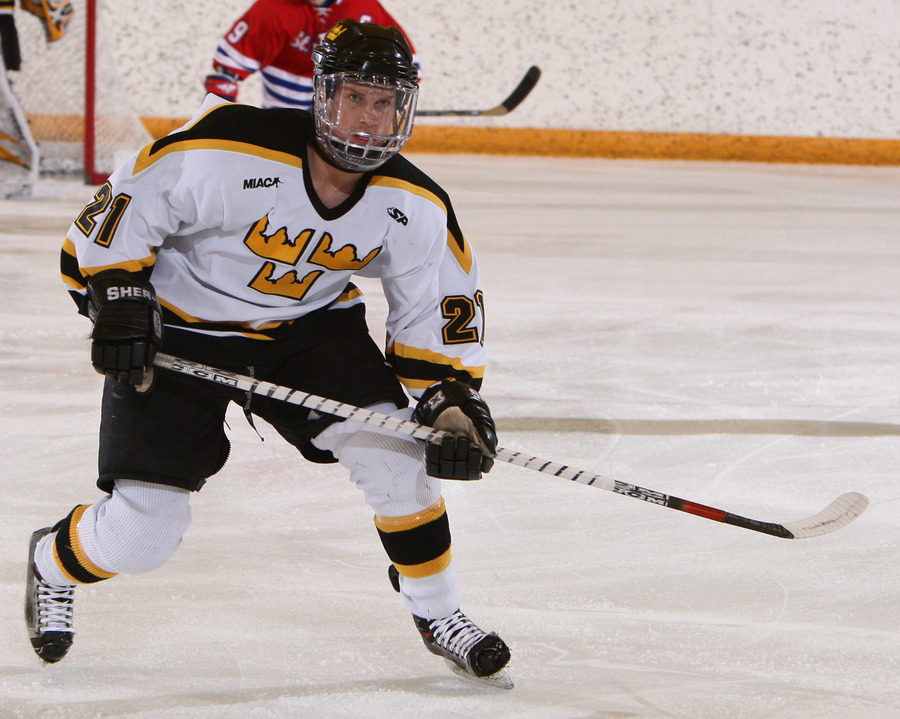Junior Assistant Captain Joe Welch was fifth on the team in scoring with 15 points in 2007-08.