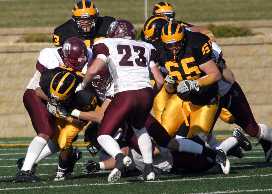 Gustavus rushed for 354 yards against Augsburg.