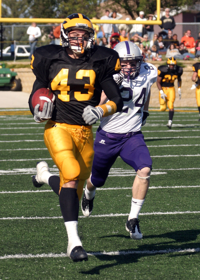 Chad Arlt has caught 217 passes for 3,118 yards in his career.