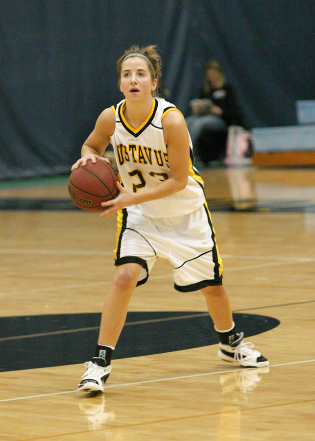 First year guard Molly Geske scored 10 points in her first career appearance at Gus Young Court.