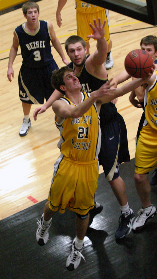 Jesse Van Sickle drives the baseline past a Bethel defender.