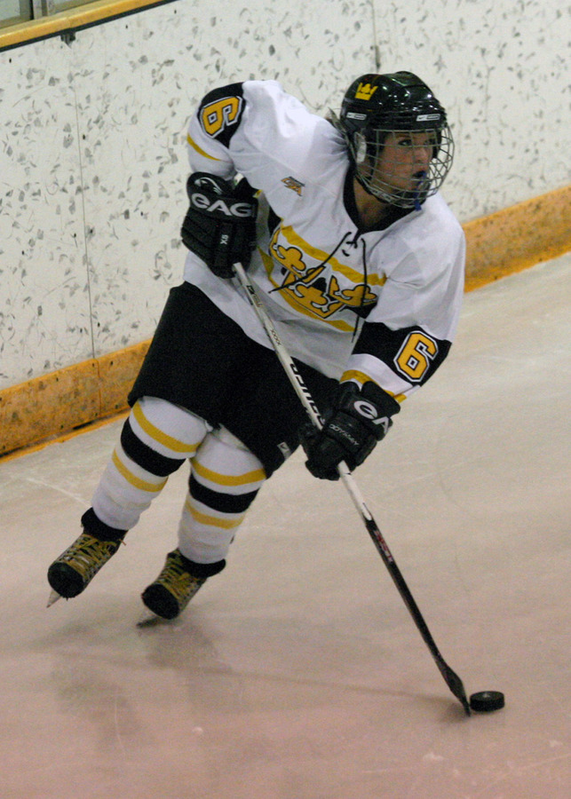 Whitney Schaff had a big night for the Gusties with a goal and two assists.