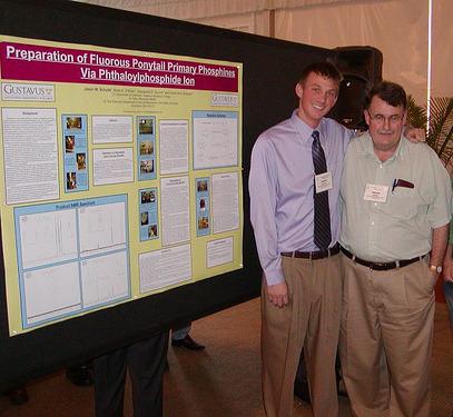 Jason Schultz and Brian O'Brien at the 19th Winter Fluorine Conference.