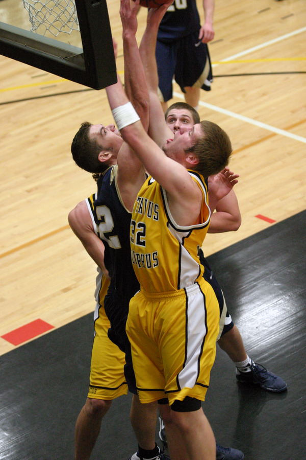Ryan McPartland helps provide a presence in the post as he averages 5.6 boards per game.