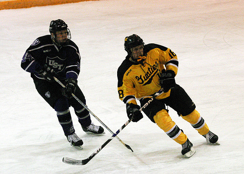 Dennis Webster tallied his second assist of the season on the Gusties' final goal.