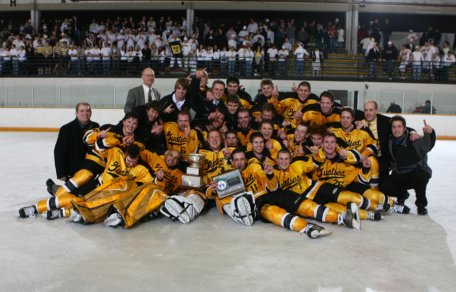 The Gustavus men's hockey team won its first MIAC Playoff Championship since 1993.