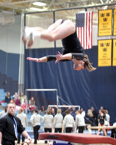 Ary Bell will compete in vault at the national meet.