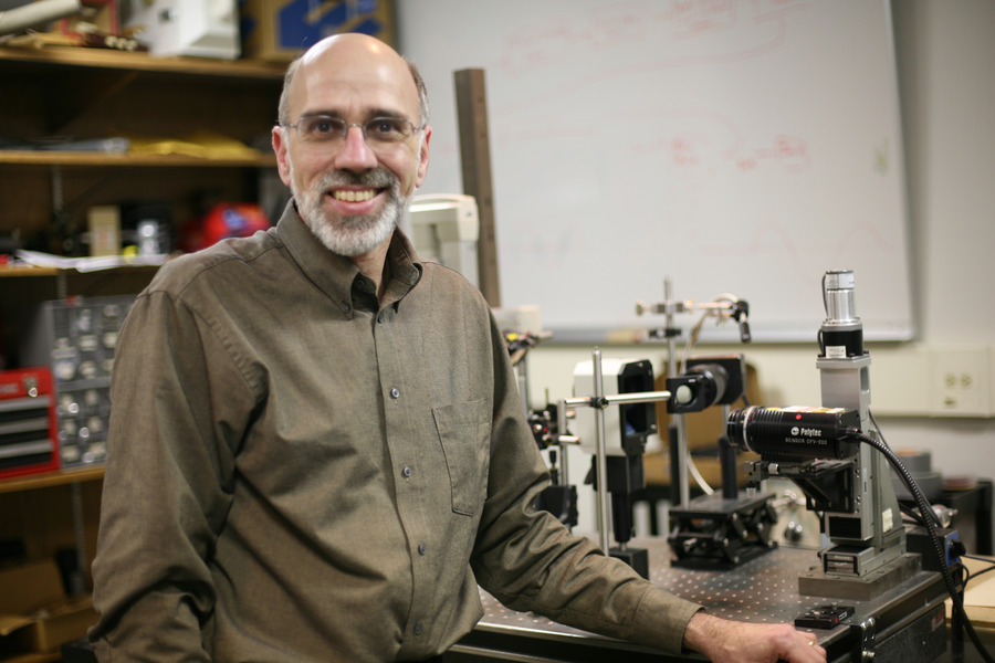 Tom Huber at his research laboratory.