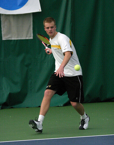 Charlie Paukert won a three-set match at #2 singles against UW-Whitewater.