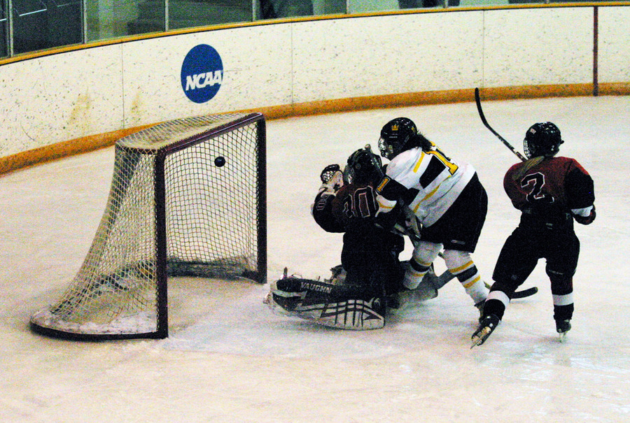 Lynn Hillen tallies the Gusties' lone goal on a deflection midway through the second period.