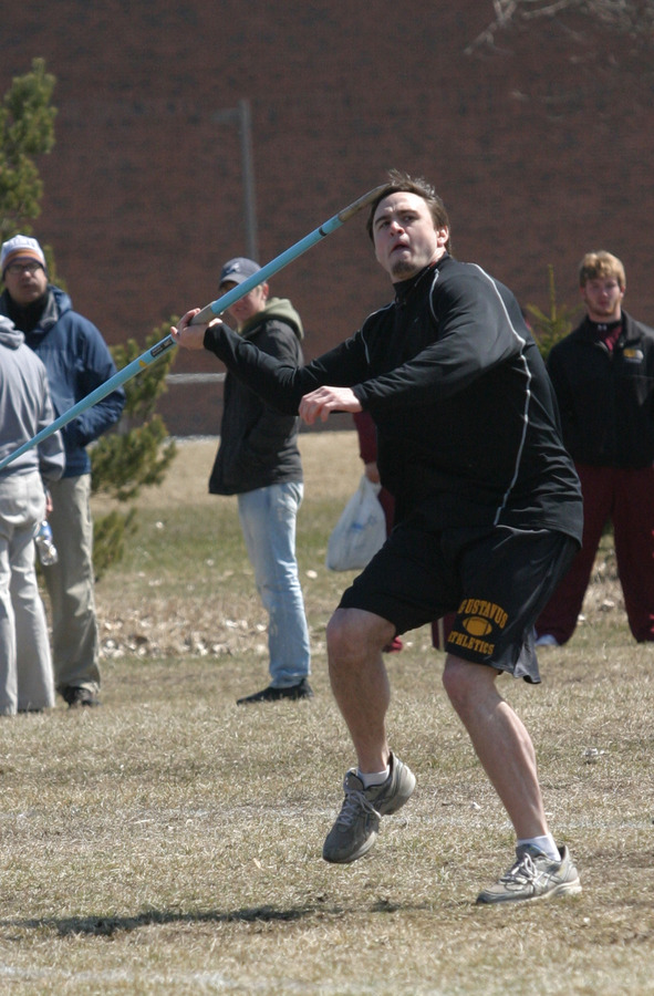 Chad Arlt earned second place in the javelin throw.