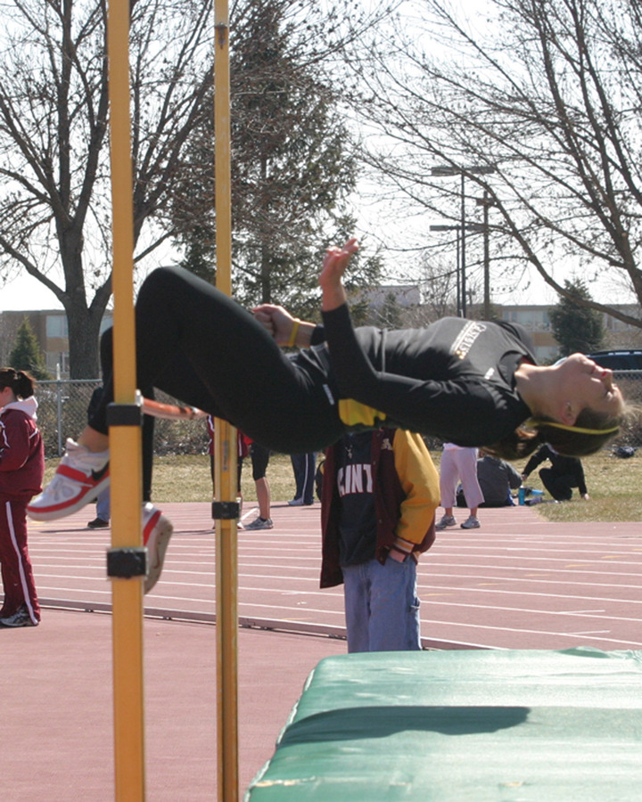 Lindsey TeBrake finished fifth in the high jump.