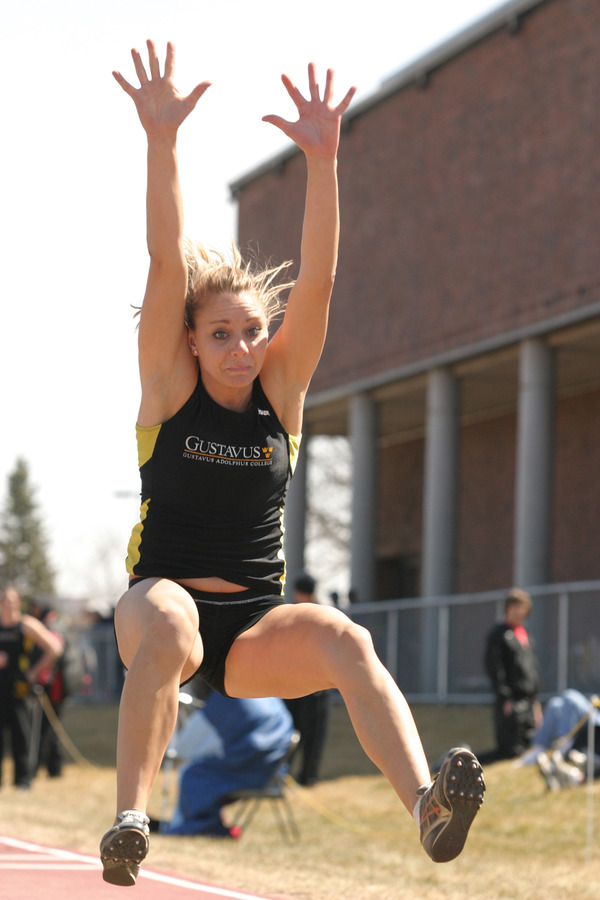 Janey Helland was a runner-up in the long jump.
