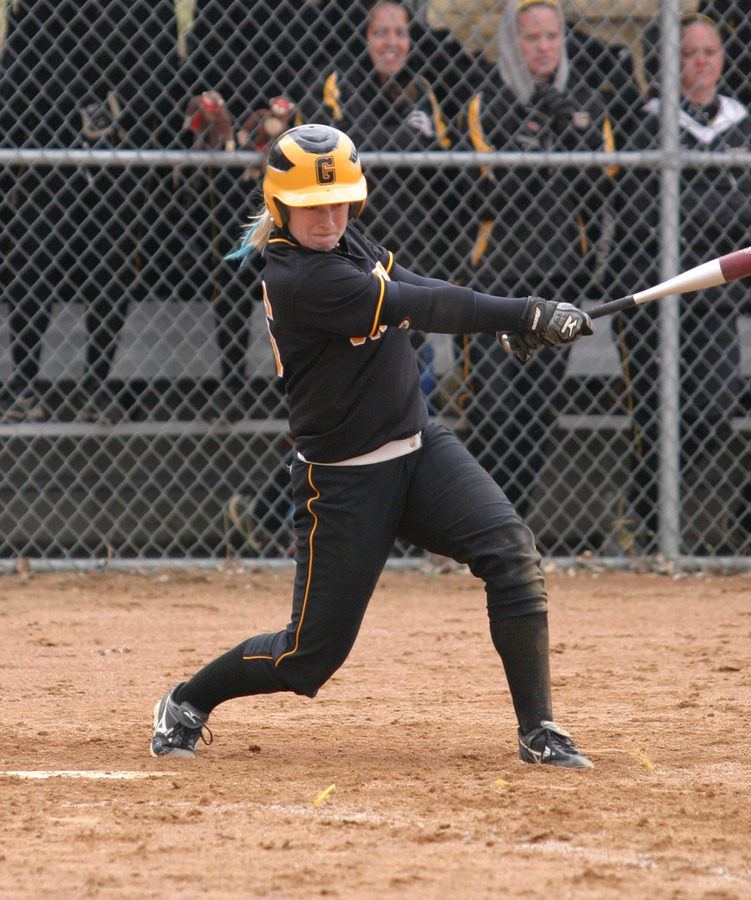 Emily Wendorff had a big day at the plate with four hits including two triples.