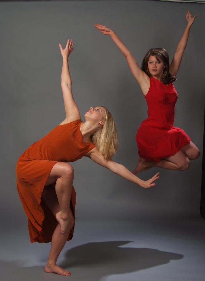 "Emily Bulling and Alexandra Ehrich in ""Sensibilities,"" photo by Wayne Schmidt"