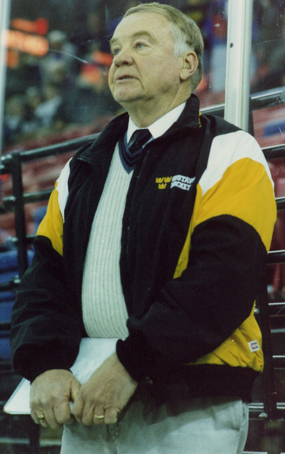 Don Roberts on the bench in his final year as the head coach in 1997.