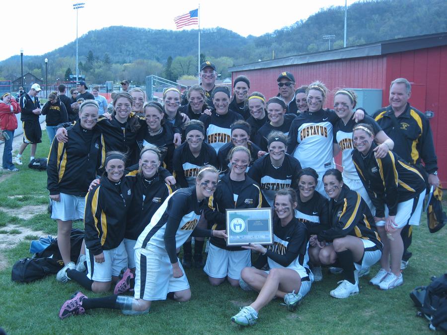 The 2009 MIAC Regular Season Champion Golden Gustie Softball Team