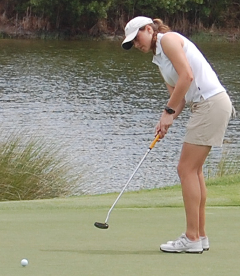 Kali Griggs finished tied for sixth individually to help Gustavus claim third place. (Courtesy Methodist Sports Information)