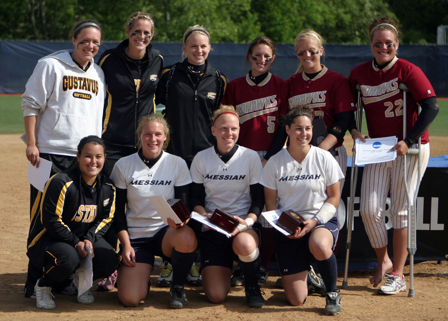 Click, Wendorff, Brown, and Prunty pictured with the rest of the NCAA All-Tournament Team
