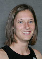 Kaelene Lundstrum finished fifth in the heptathlon at the 2009 NCAA Championships.