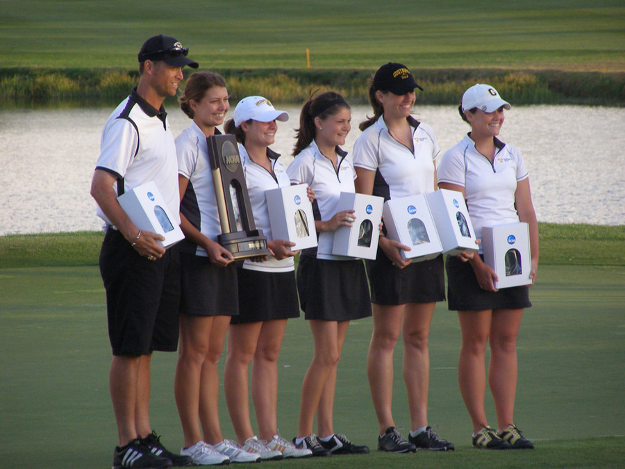 The women's golf team contributed to the Directors' Cup standings with a third place finish at the NCAA Championships.