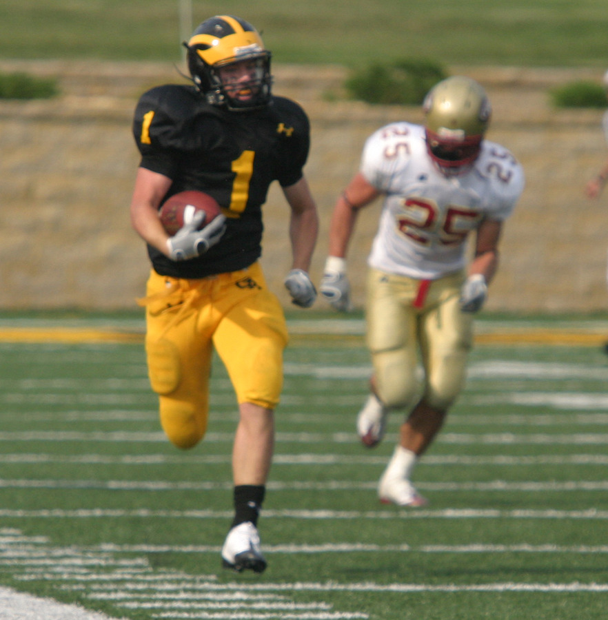 Cody Sukalski races down the sidelines for 68 yards keeping the Gusties hopes alive in the final minute of play.