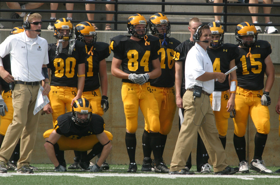 Head Coach Peter Haugen paces the sidelines.