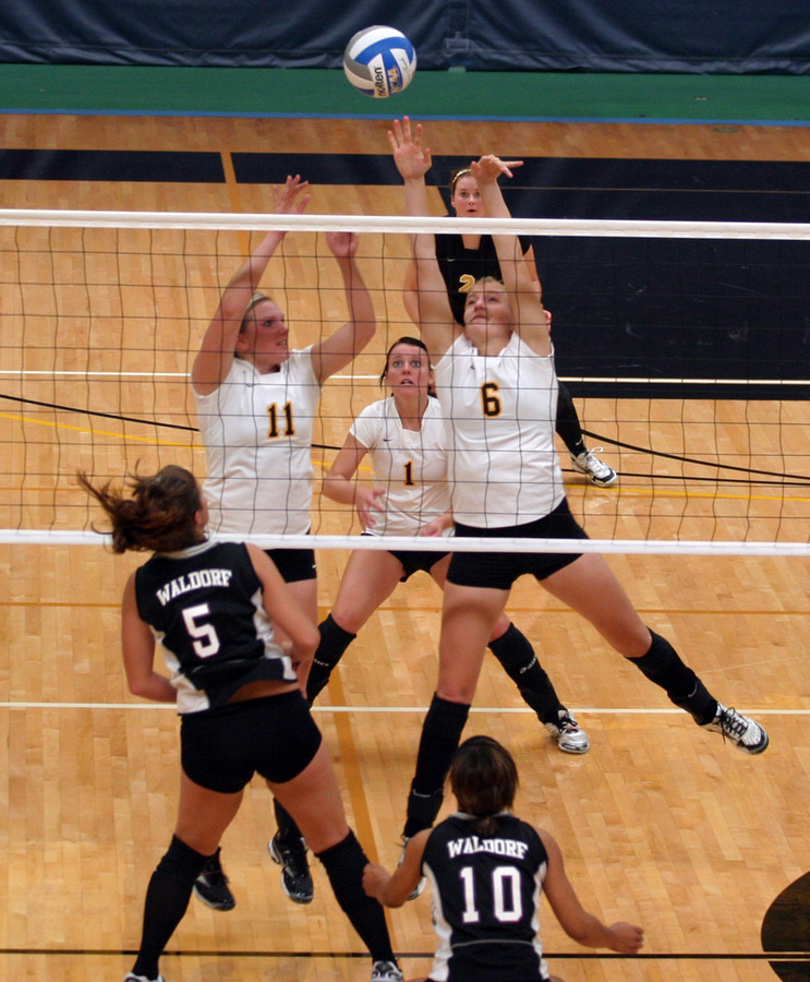 Meghan Gehring and Nikki Ainsworth go up for the block.