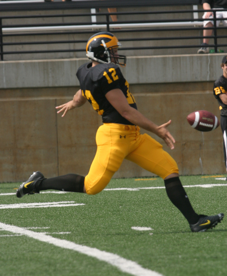 Punter Matt Knutson has been important to the Gusties special teams with an average of 38.7 yards per punt.