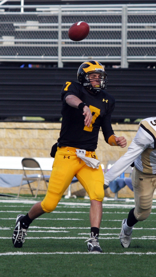 Jordan Becker threw for a career best five touchdowns to lead the Gusties.