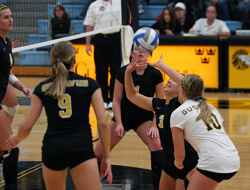 Tara Kramer keeps the ball in play for the Gusties.