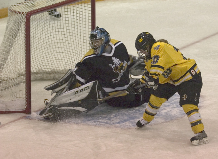 Molly Doyle just misses on a scoring attempt against UW-Superior.