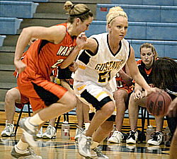 Senior Lacy Skoog led the Gusties with 16 points in their season opener