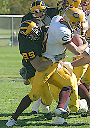 Sieling making a tackle against Concordia.
