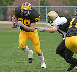 Sieling intercepting a pass against St. Olaf