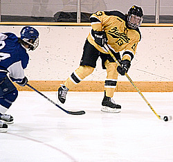 #13 Keith Detlefsen recorded the Gusties second goal against Marian College.