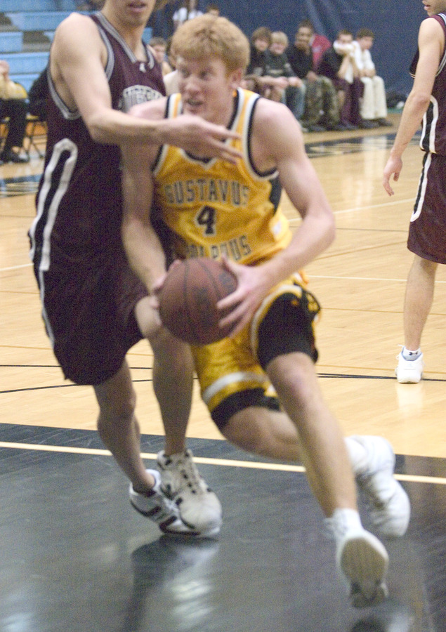 Doug Espenson drives the lane for two.