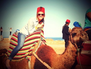 Riding a camel in Morocco, Fall 2013.jpeg