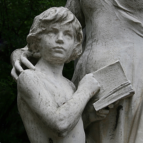 Statue of Child with Book