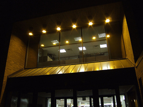 Gustavus Library at Night