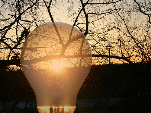 Lightbulb Sunset