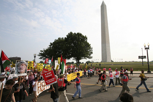 Protest at the Washington Monument