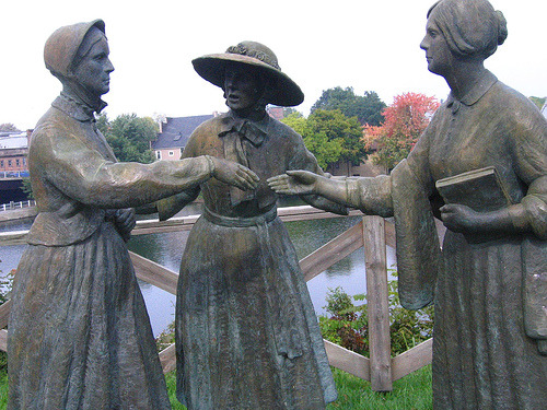 Statues of Susan B. Anthony, Elizabeth Cady Stanton and Amelia Bloomer