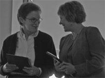 Barbara Kaiser and Sandy Grochow