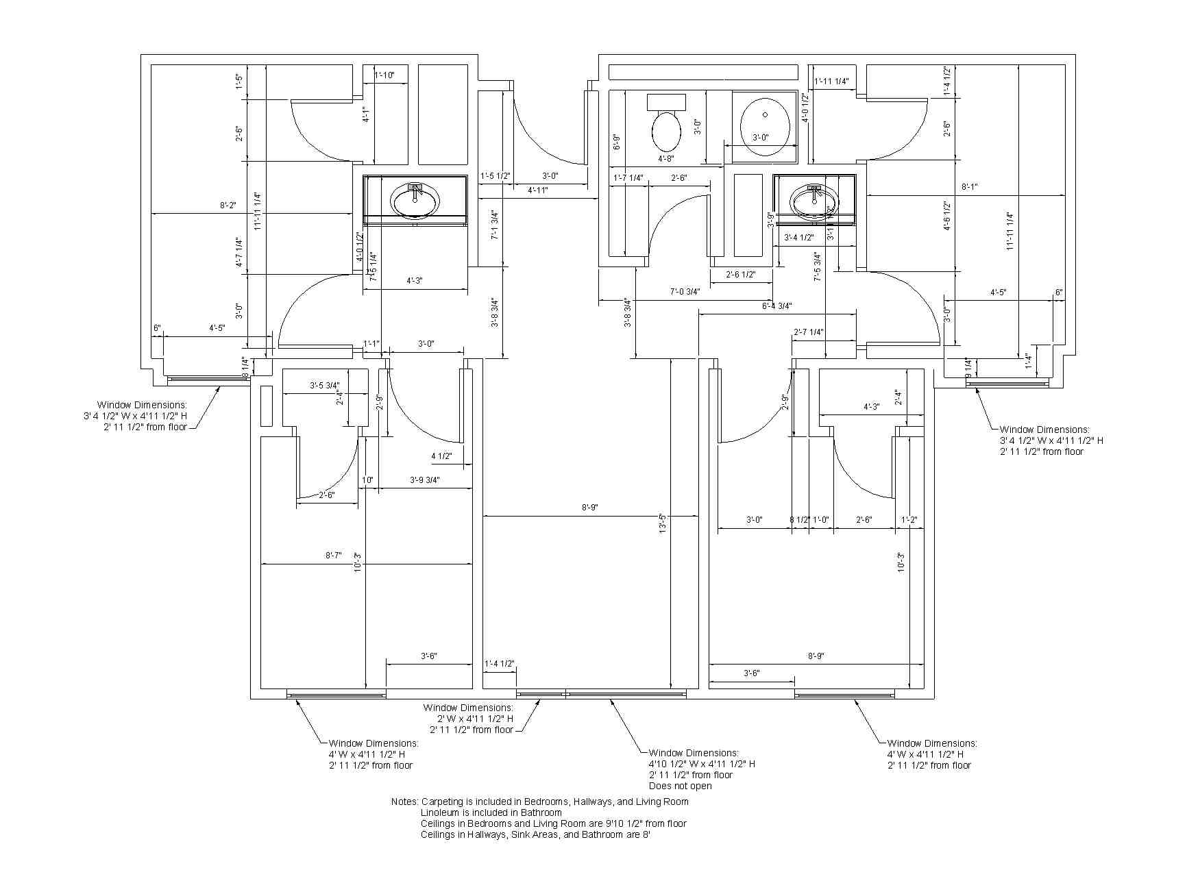 Southwest Hall Dimensions | Residences