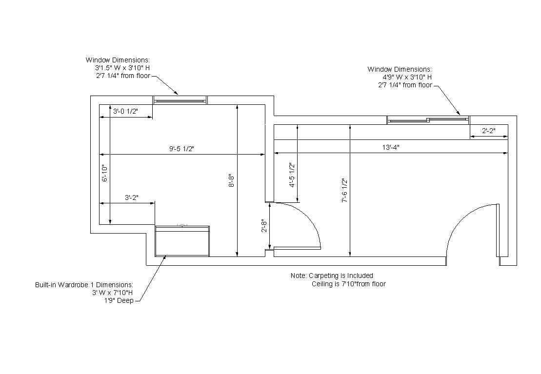 Uhler Hall Room Dimensions | Residences